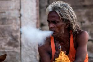Sadhu Smoking Ganga